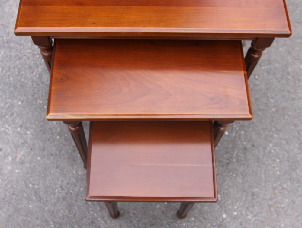 nest tables in cherrywood   1960s  280 00. Set of 3 nest tables in cherrywood   1960s   Design Market