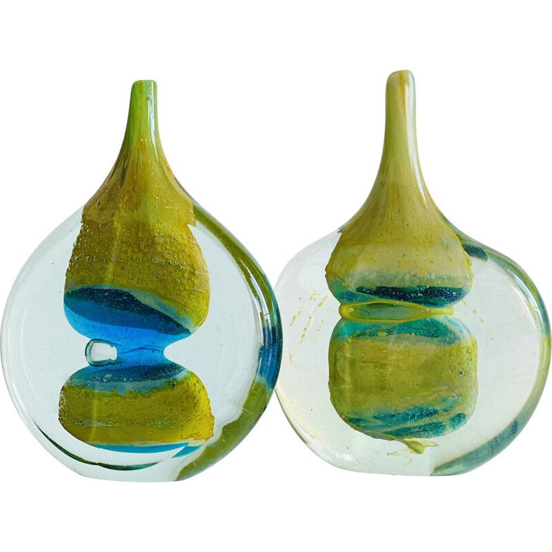 Pair of vintage Lollipop soliflores by Michael Harris, Isle of Malta 1970s