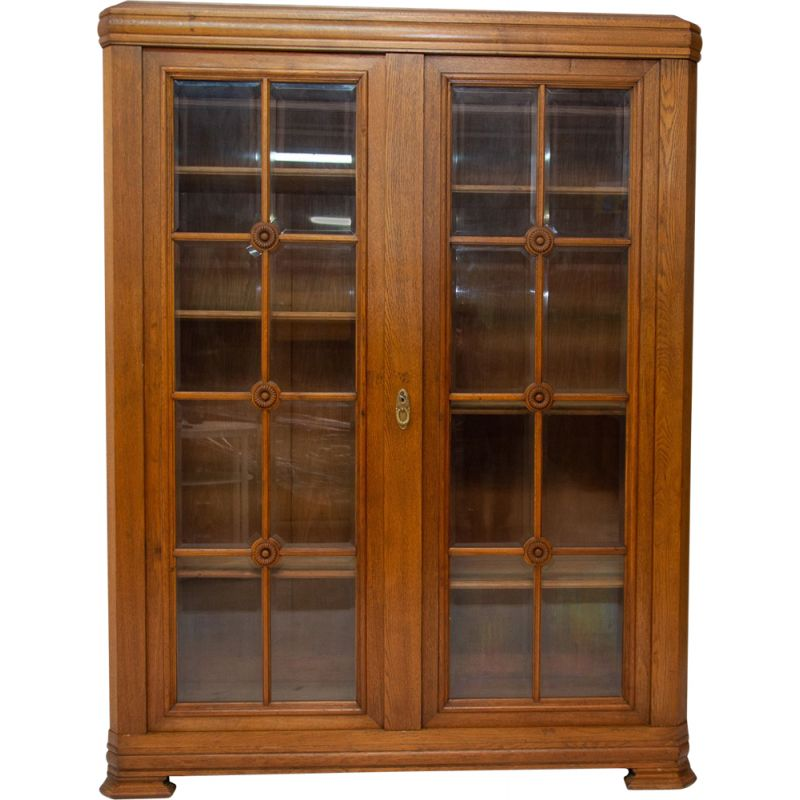 Vintage Art Deco bookcase in Bohemia 1930