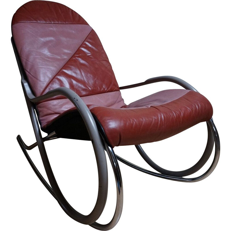 Vintage rocking chair Nonna by Paul Tuttle for Sträslle, Switzerland 1970