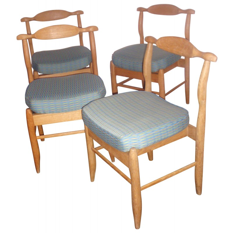 Set Of 4 Chairs Fumay Of Guillerme Chambron 60s Design Market