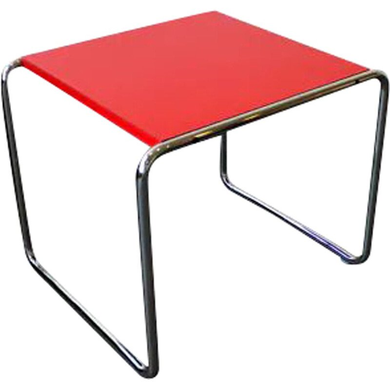 Vintage Laccio Side Table by Knoll & Marcel Breuer 1925s
