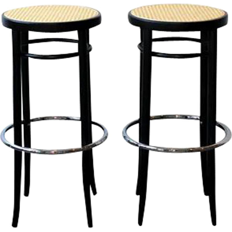 Pair of vintage bar stools model 204 Thonet