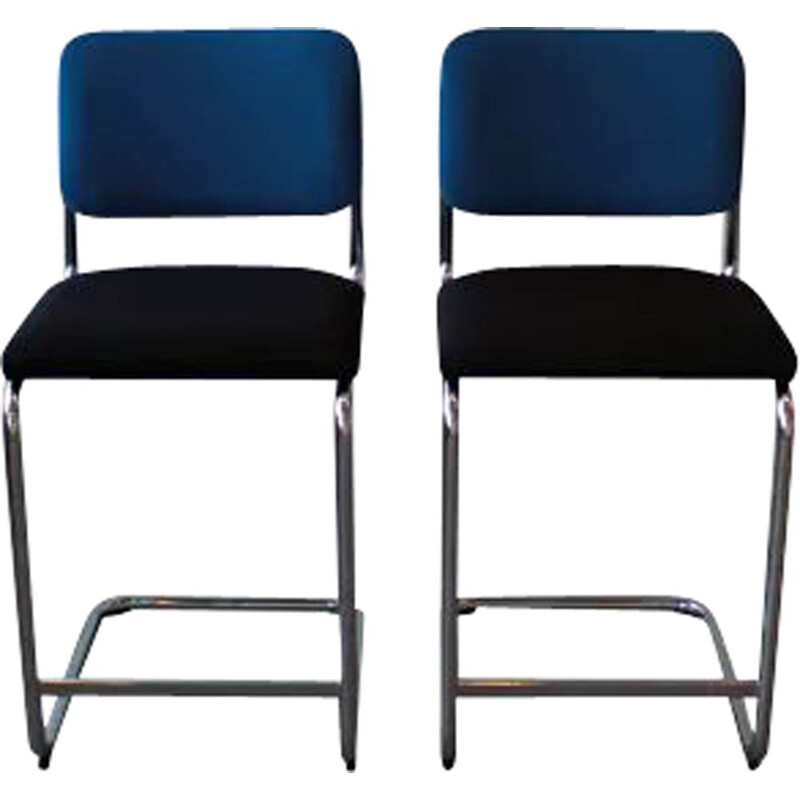 Pair of vintage Cesca Knoll counter stools by Marcel Breuer 1925s
