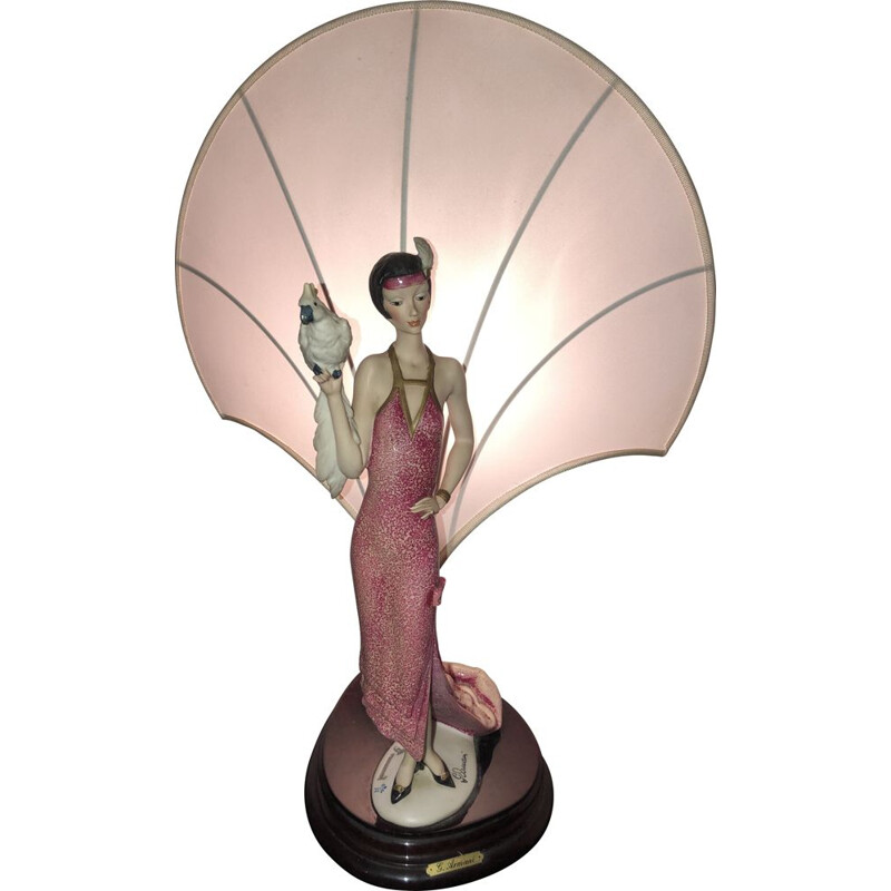 Vintage lamp from Monte Florence by Giuseppe Armani  art deco 1987s