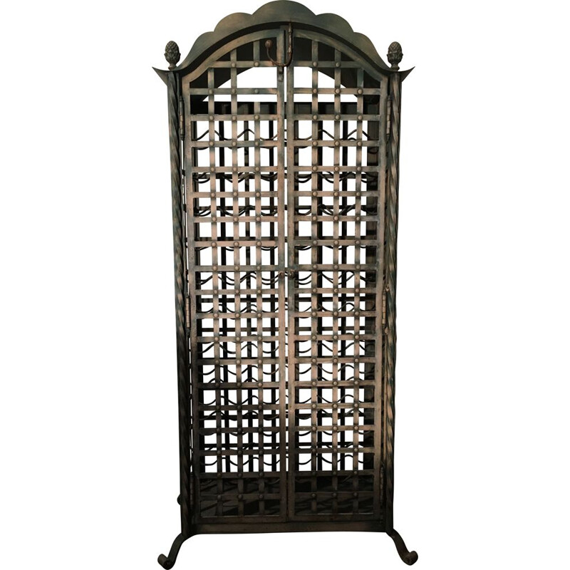 Vintage Wrought iron wine cabinet