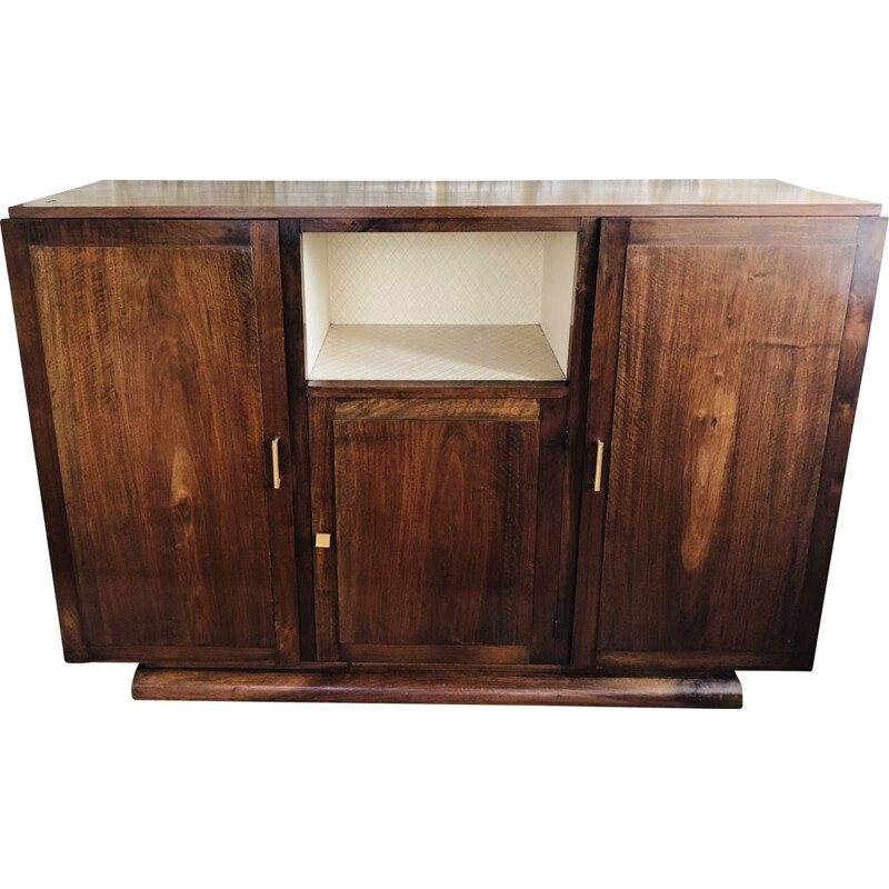 Vintage walnut art deco sideboard 1950s