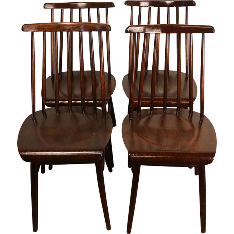 Set of 4 vintage chairs, Scandinavian 1960s