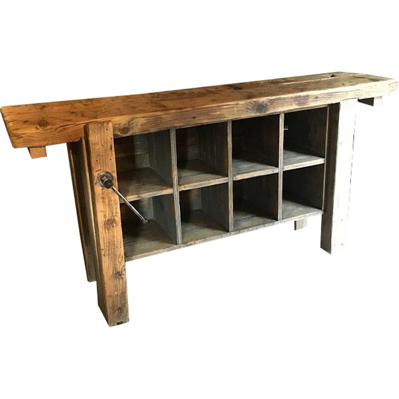Vintage workbench with locker 1950s