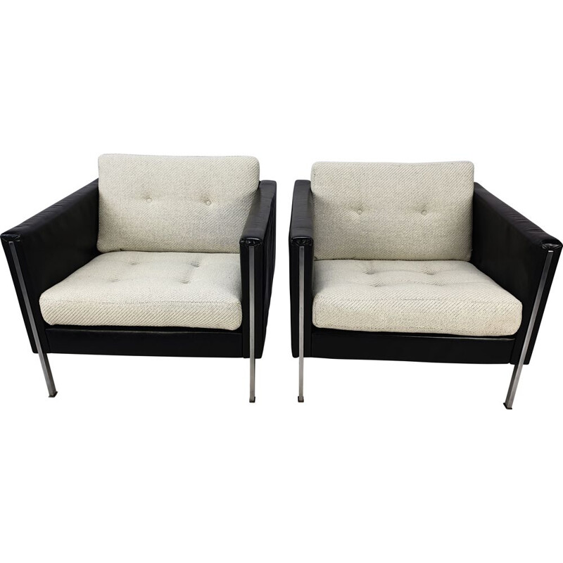 Pair of vintage 442 Club Chairs by Pierre Paulin for Artifort 1960s