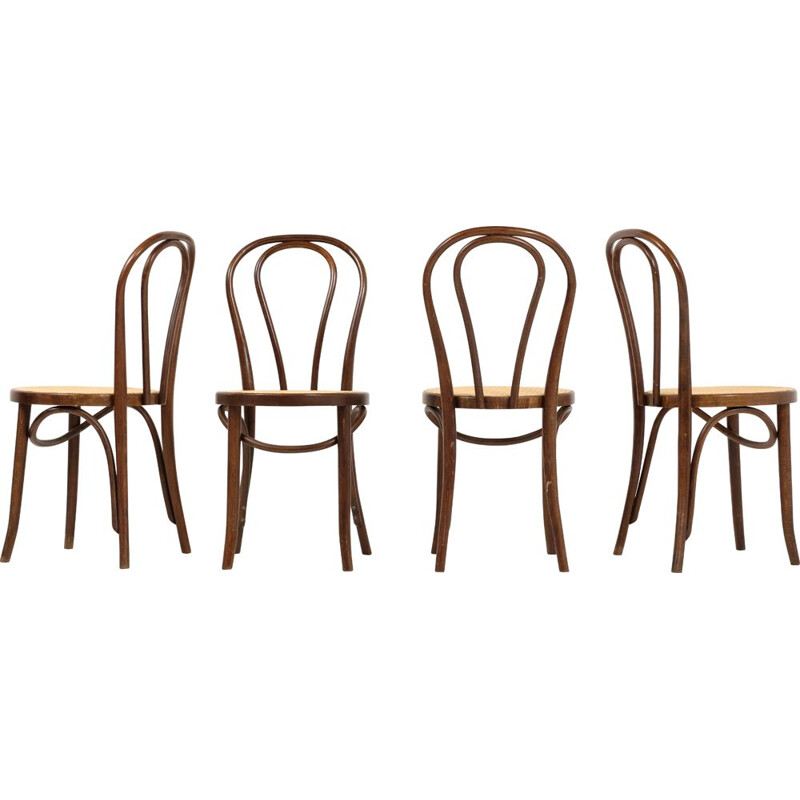 Lot of 4 vintage chairs by Michael Thonet for ZPM Radomsko 1970s