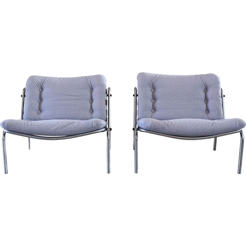 Pair of vintage Kyoto Armchairs By Martin Visser for T Spectrum, Japan 1960s