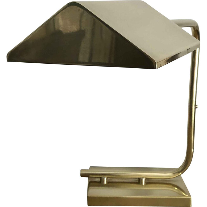 Vintage brass desk lamp, Italian 1980s