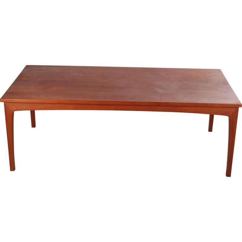 Vintage coffee table in teak by Niels Bach, Danish
