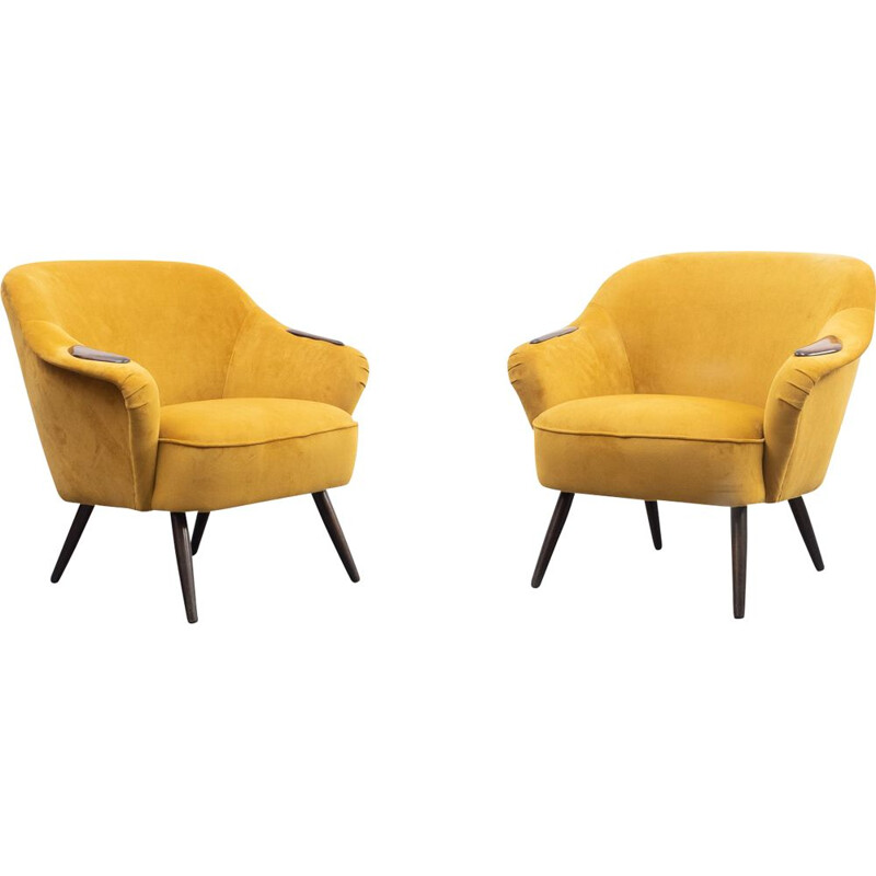 Pair of vintage cocktail chair 1950s