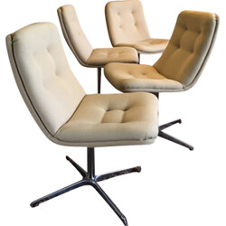 Set of 3 Artifort Conference chairs, Geoffrey HARCOURT - 1960s