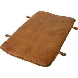 Gym mat in brown leather - 1930s