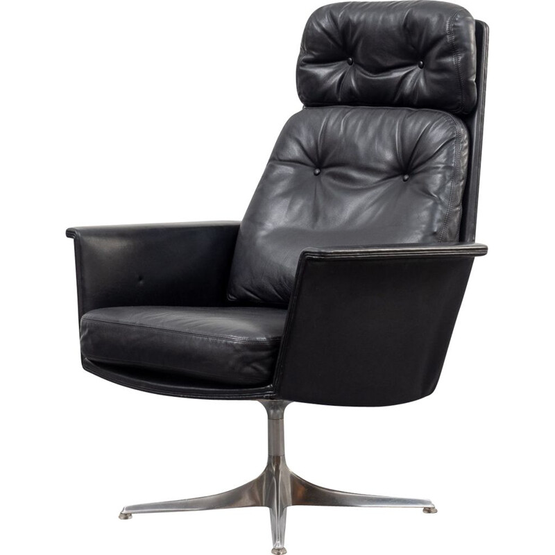 Vintage leather Sedia armchair by Horst Brüning for COR, Germany 1960