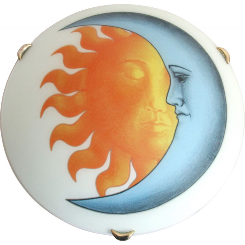 Vintage ceiling lamp SoleLuna by Piero Fornasetti, Italy 1980