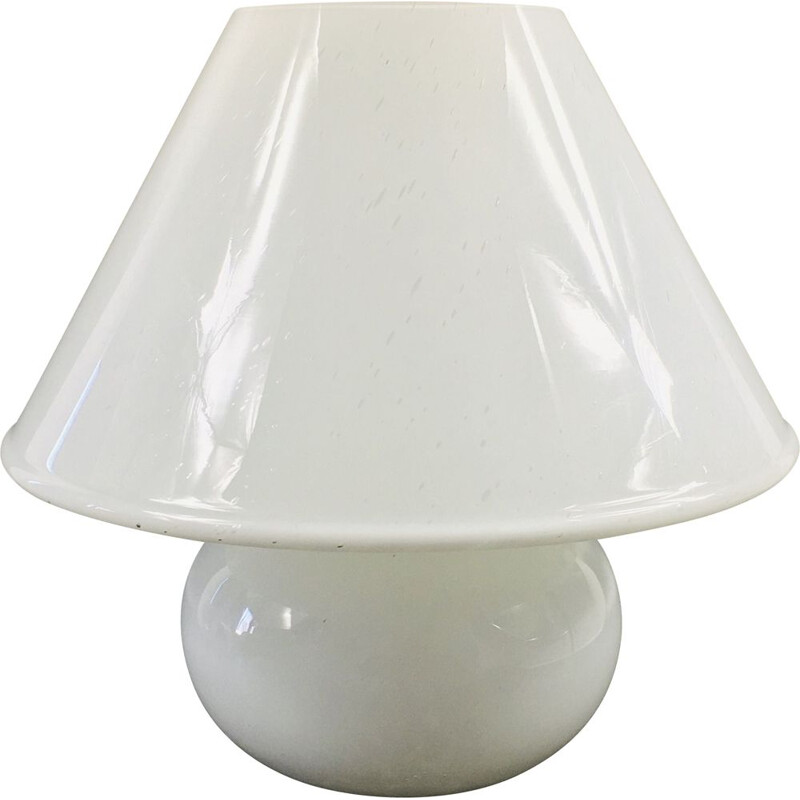 "Large vintage ""Mushroom"" table lamp model 6288 by Glashütte Limburg 1970"