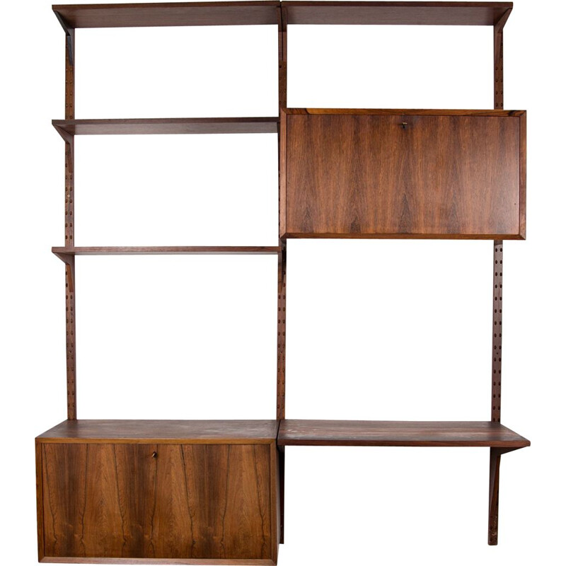 Vintage modular shelf in Rio rosewood by Poul Cadovius, Denmark 1960s