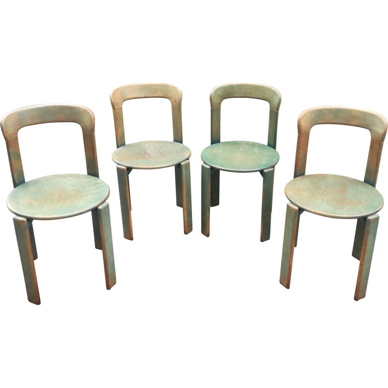 Lot of 4 vintage chairs by Bruno Rey for Dietiker