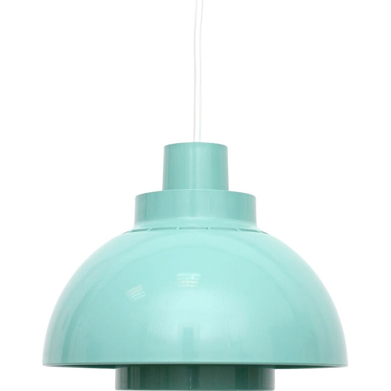 Vintage Minisol blue pendant lamp Space Age by Kewo for Nordisk Solar, Danish 1960s