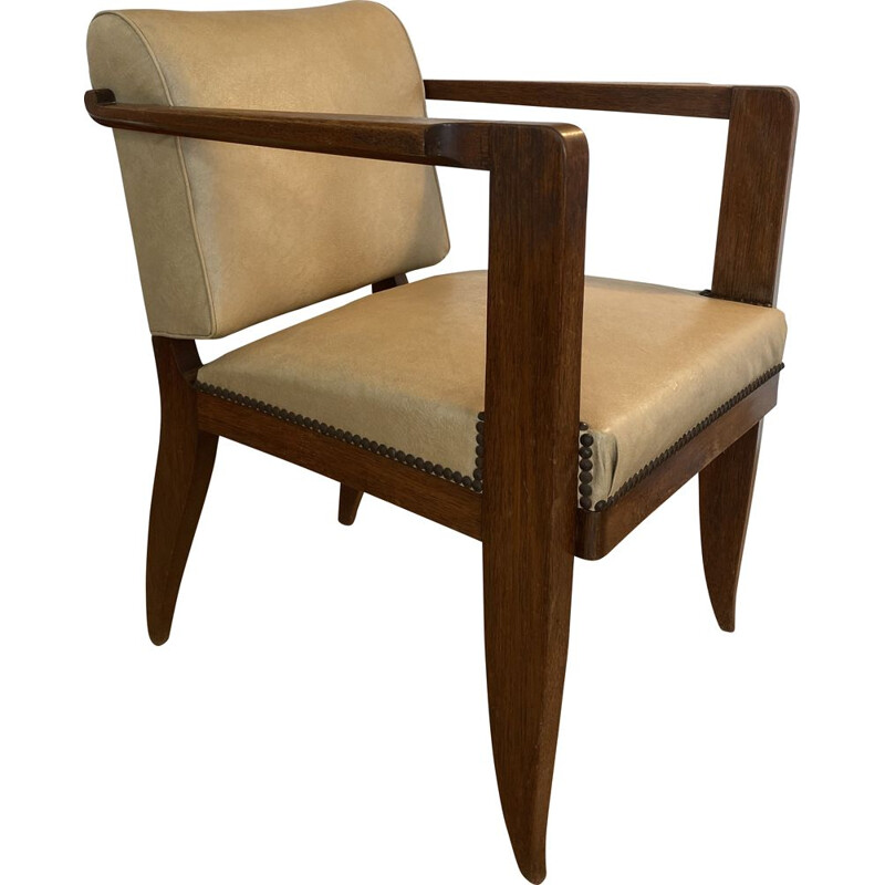 Vintage modernist armchair by Francisque Chaleyssin 1930s