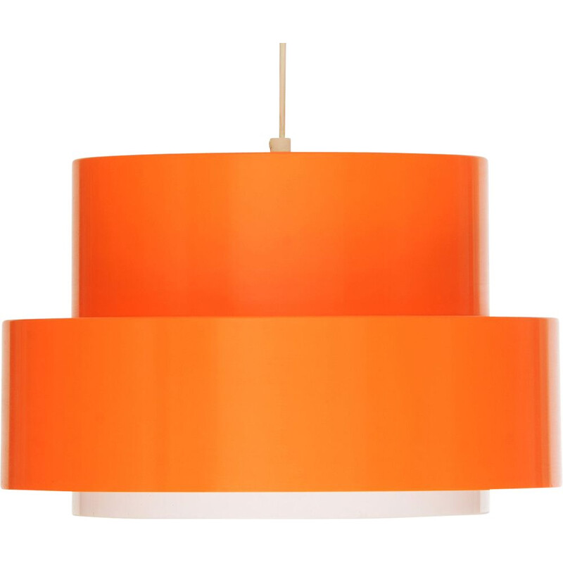 """Vintage Pendant light """"Cylindus"""" by Uno and Östen Kristiansson for Luxus, Sweden 1970s"""