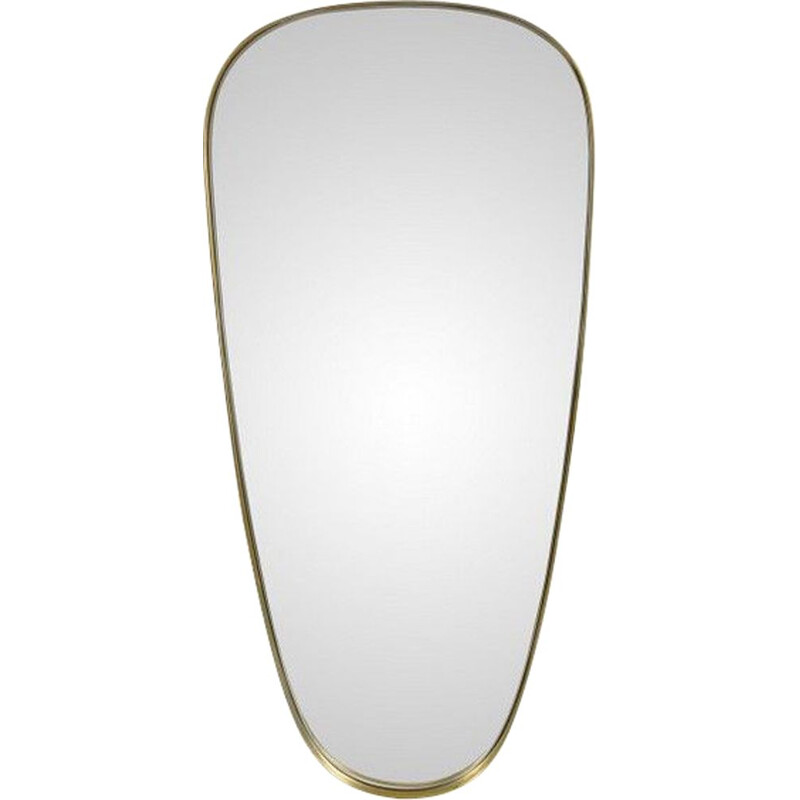 Vintage mirror mirror and free form brass outline