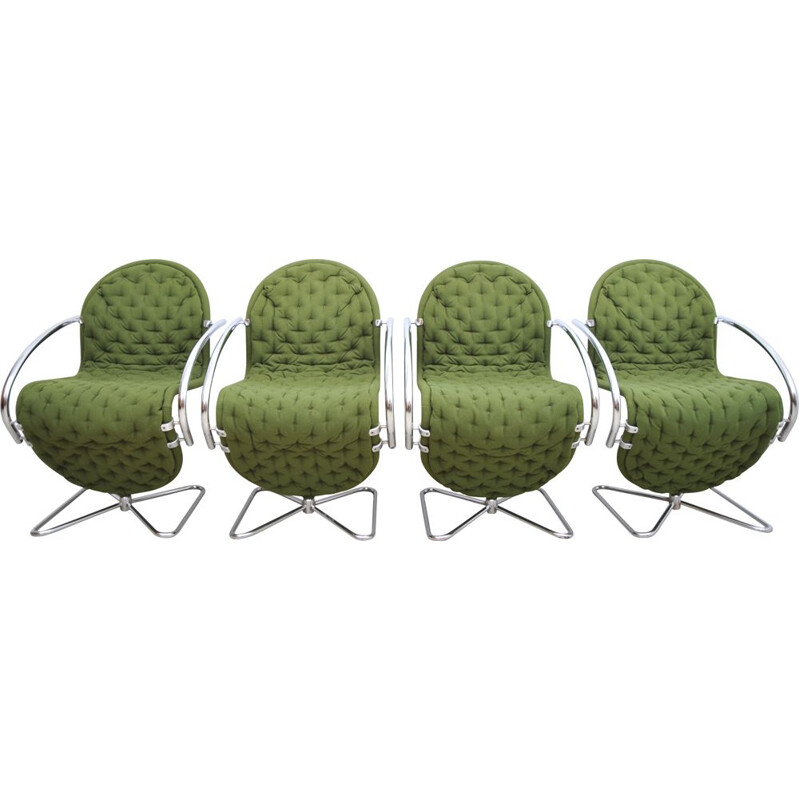 Set of 4 vintage chair by Fritz Hansen, Denmark 1980s