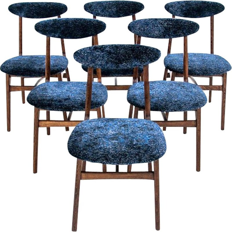 Set of 6 vintage chairs by R.T. Hałas, Poland 1960s