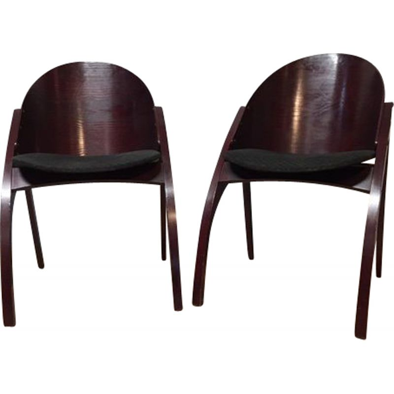 Pair of vintage armchairs by Pascal Mourgue & Memphis 1980s