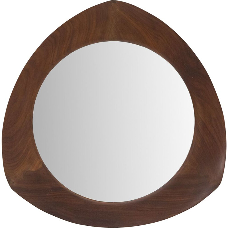 Vintage Mirror with teak frame by Campo and Graffi for Home 1950s