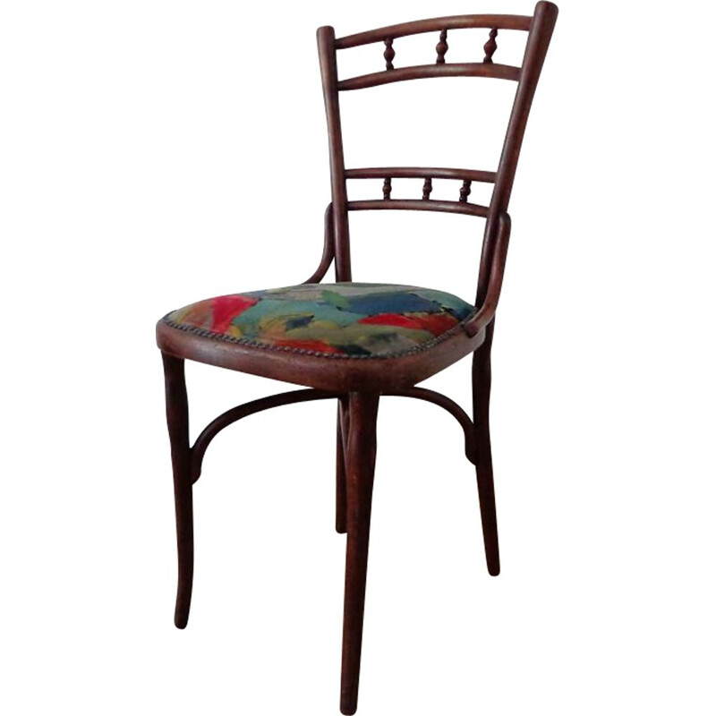 Vintage chair by Thonet with colorful upholstery