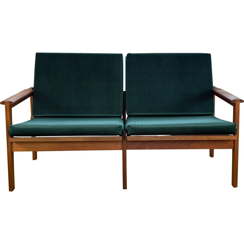 Vintage 2 Seater Capella Sofa by Illum Wikkelsø for Niels Eilersen 1960s