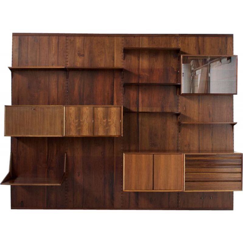 Vintage rosewood cado panel wall system by Poul Cadovius 1959s