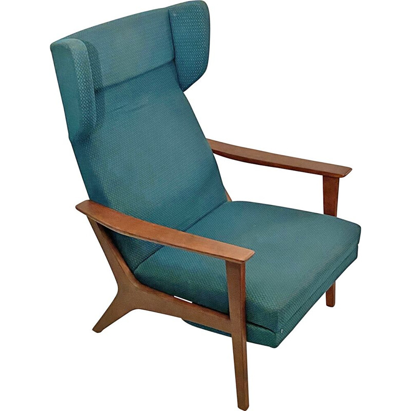 Vintage Wingback Lounge Chair, Swedish 1960s