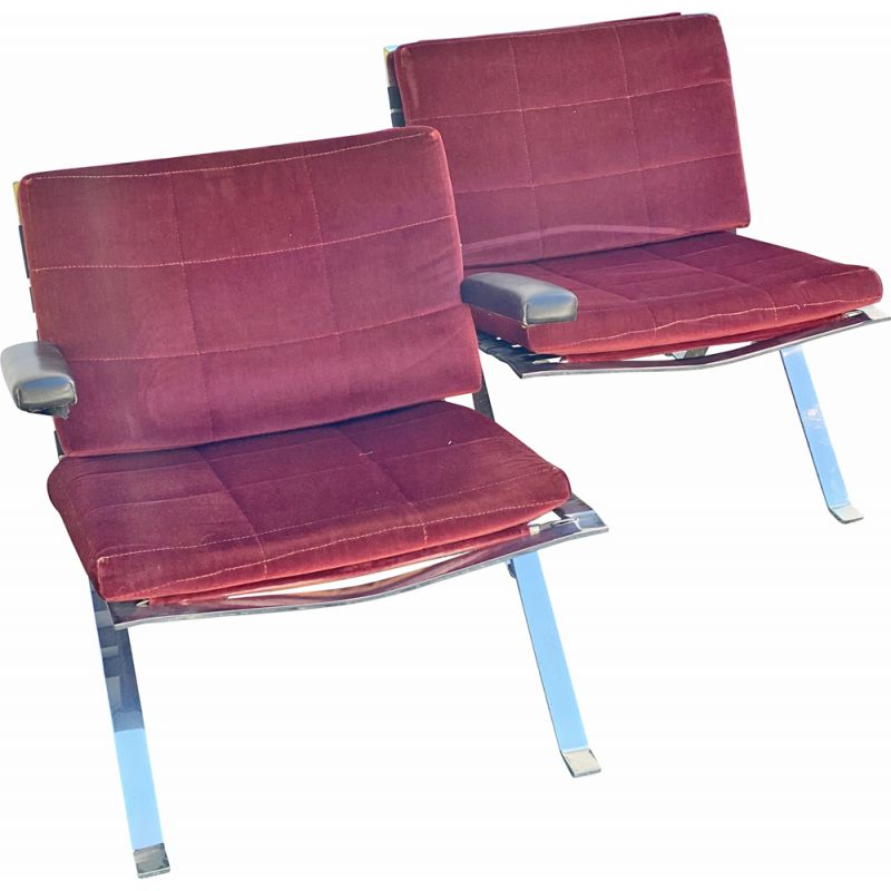 Pair of vintage Easy Chairs by Hans Eichenberger for Girsberger