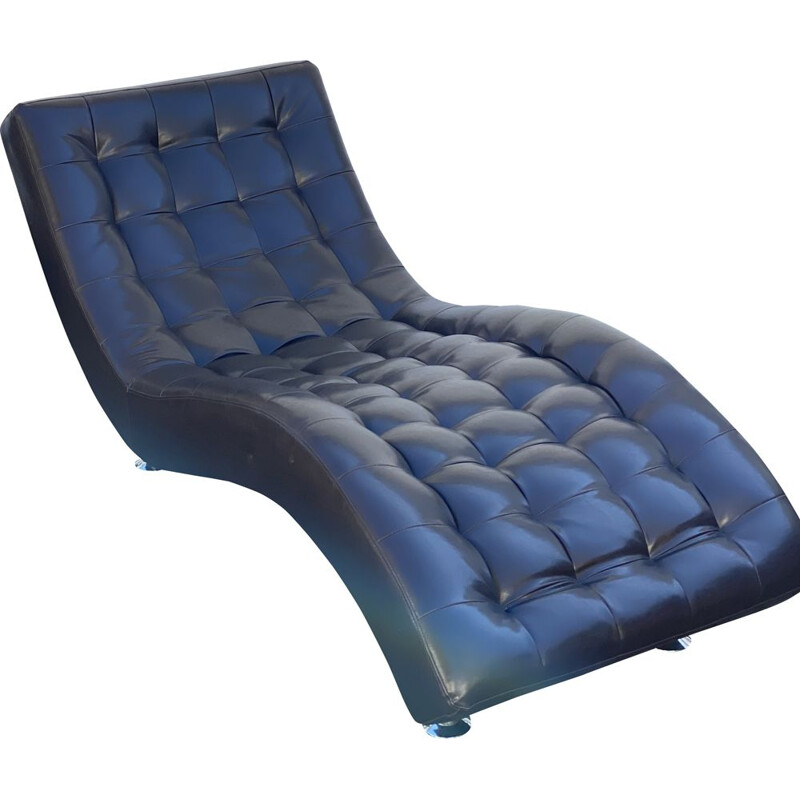 Vintage Tuft Stitched Chaise Lounger