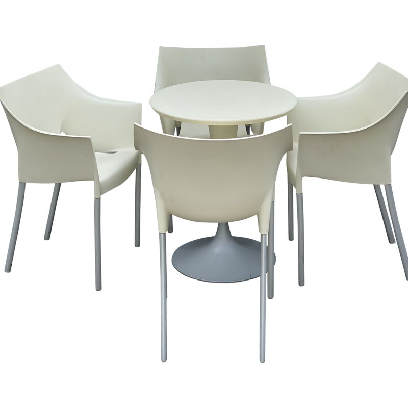 Vintage Table with 4 Chairs by Philippe Starck for Kartell