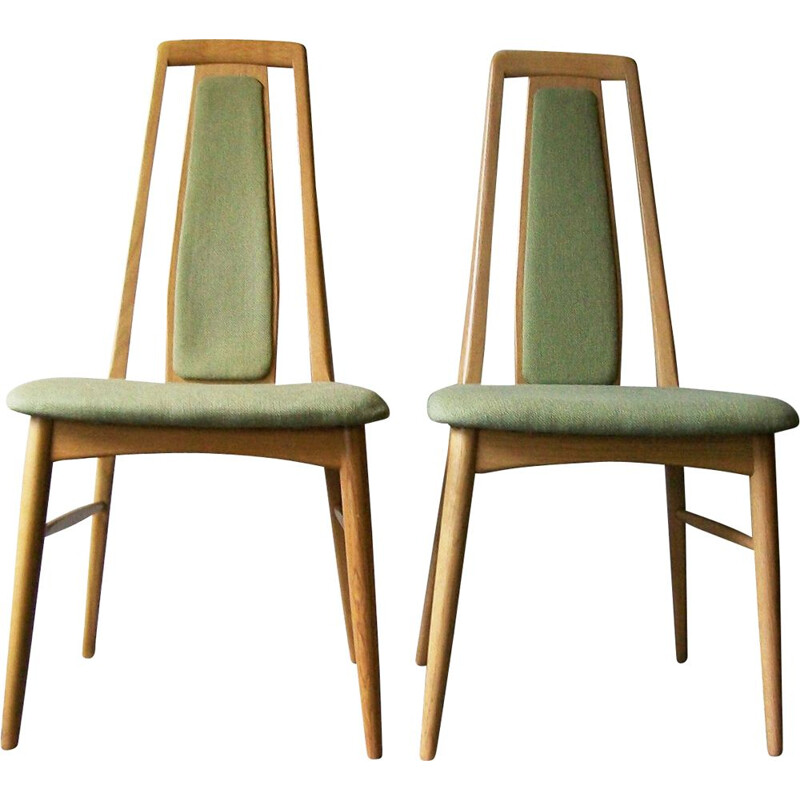 Pair of Vintage Oak Eva Chairs by Niels Koefoed