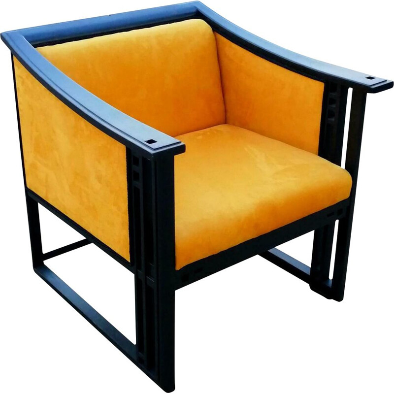 Vintage armchair model 61960 by giorgetti 1980s