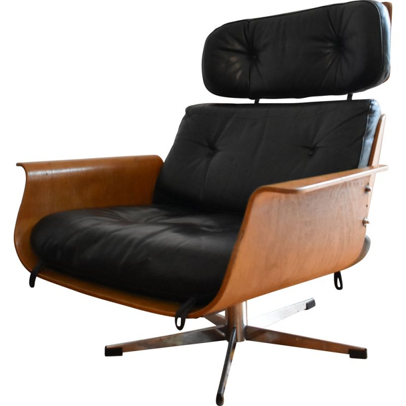 Vintage Leather lounge chair 1960s