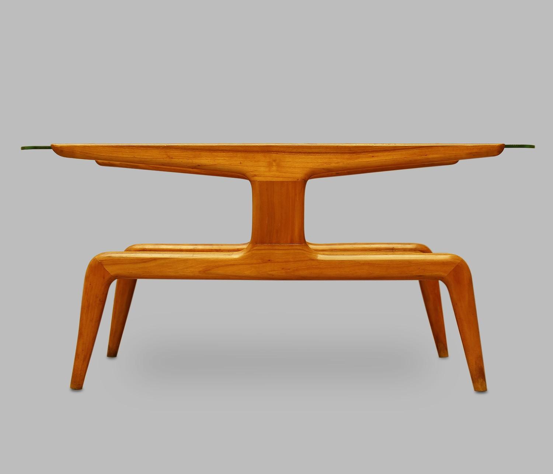 La Rinascente coffe table in cherrywood Gio PONTI 1930s
