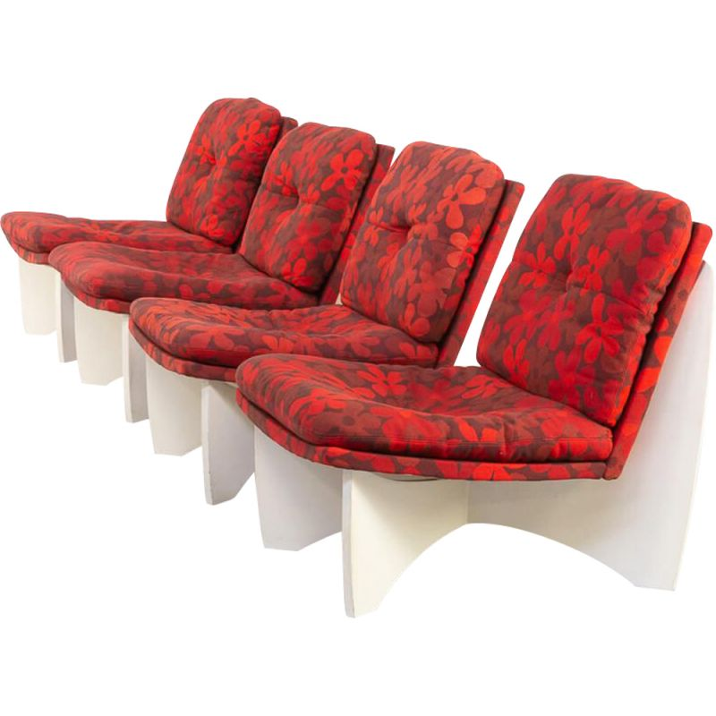 Set of 4 vintage lounge Chair Space Age