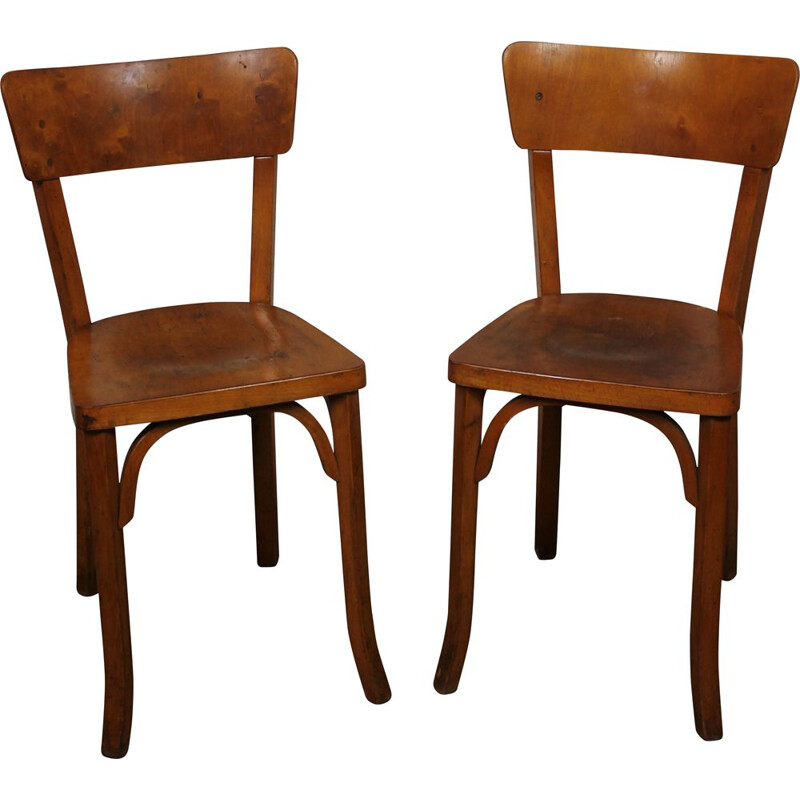 Pair of vintage Baumann bistro chairs 1950s