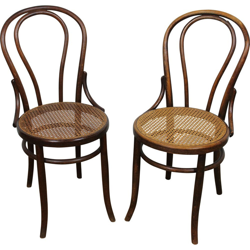 Pair of vintage chairs bistro Fischel, Austria 1920s