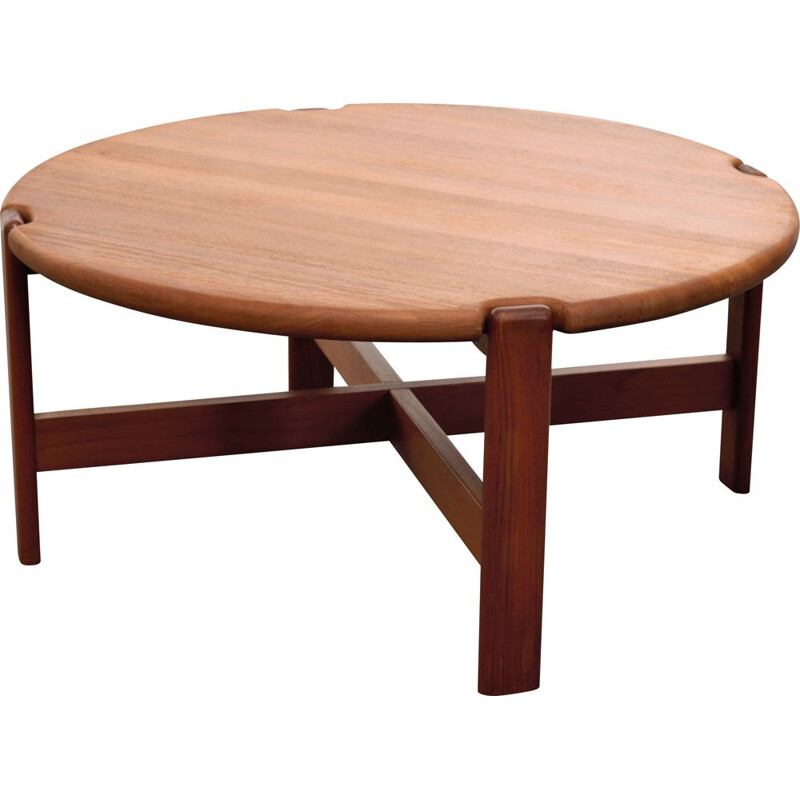 Vintage teak coffee table Dyrlund Mobelfabrik 1970s