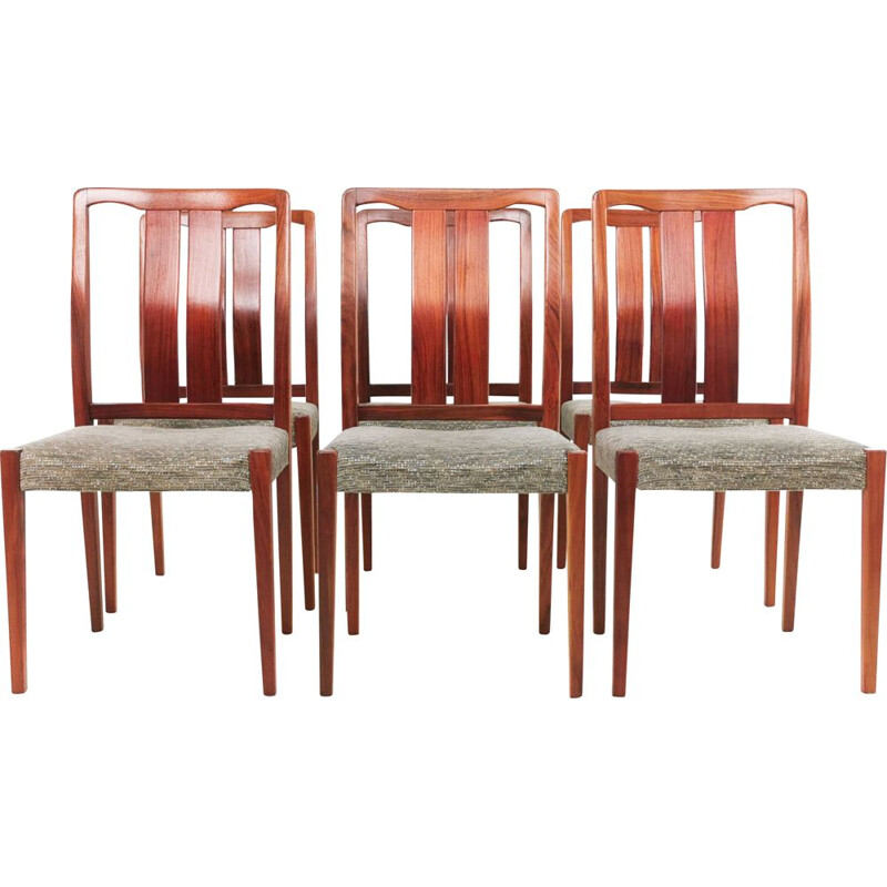 Set of 6 vintage Rosewood Dining Chairs By Nils Jonsson for Hugo Troeds, Sweden 1960s